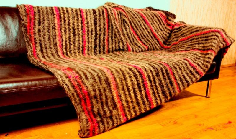 Одеяло супертеплое  «Счастье Охотника» из собачьей шерсти .