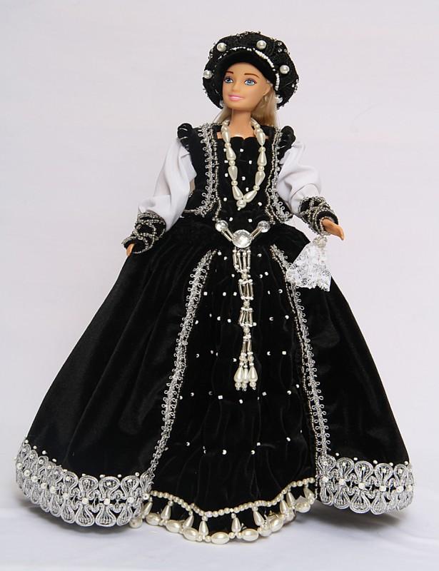 Исторический костюм на кукле Барби Италия РЕНЕССАНС  14-16 век