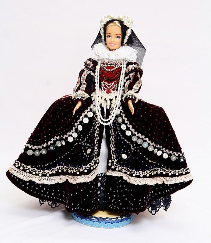 Исторический костюм на кукле Барби АНГЛИЯ  Время правления Елизаветы Первой Тюдор «Золотой век  Англии» XVI век
