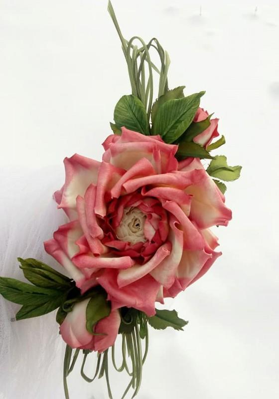 Розы «Улыбка» Цветы из ткани