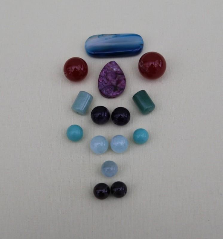 Бусины(натуральные-полудрагоценные камни).