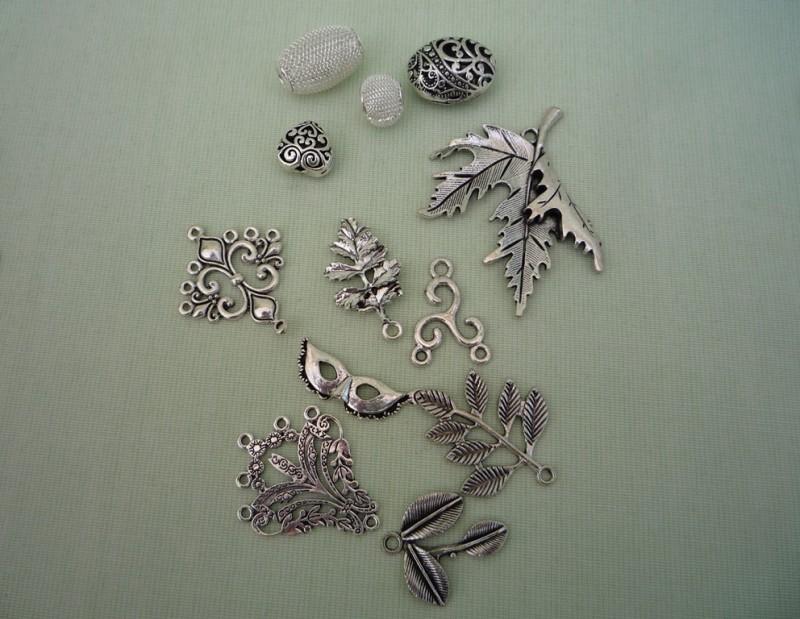 Фурнитура (цвет – серебро, старинное серебро, античная бронза