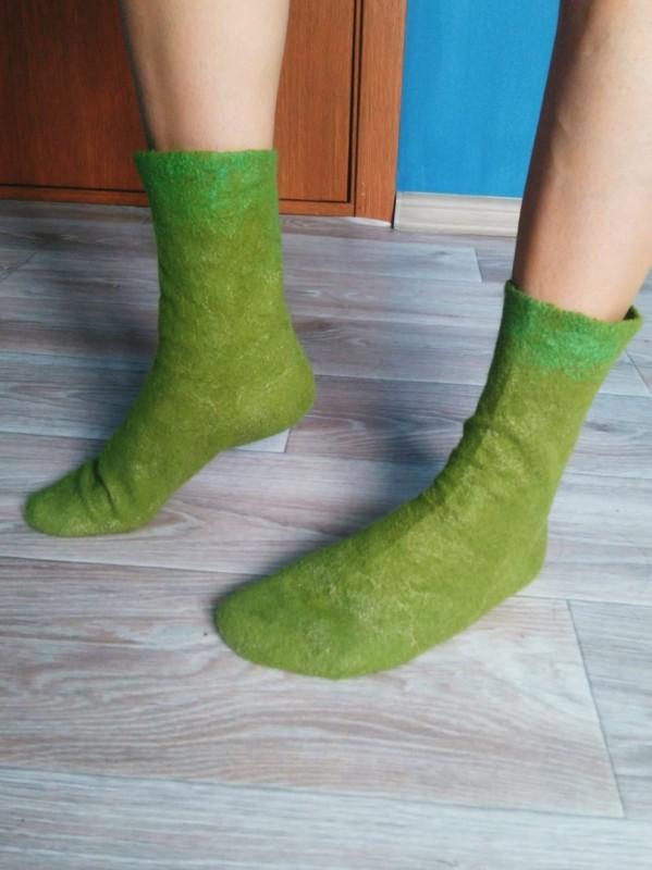 Валяные носочки.