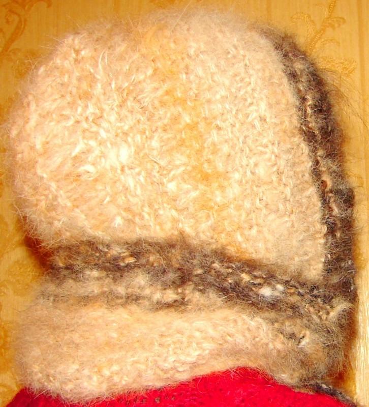 Шапка «Лапландия» женская вязанная из пуха колли .