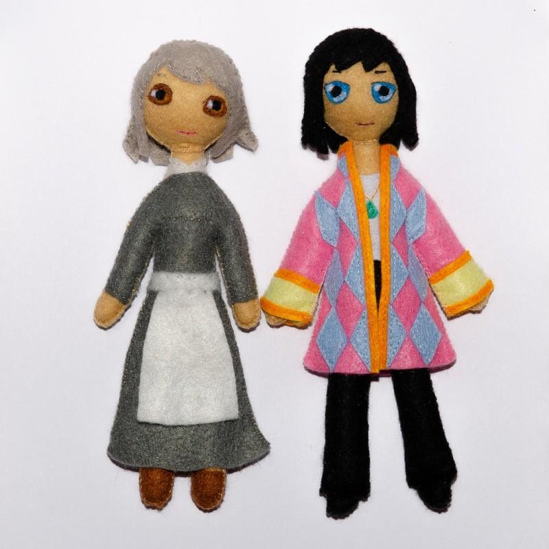 Куклы из фетра Хоул и Софи