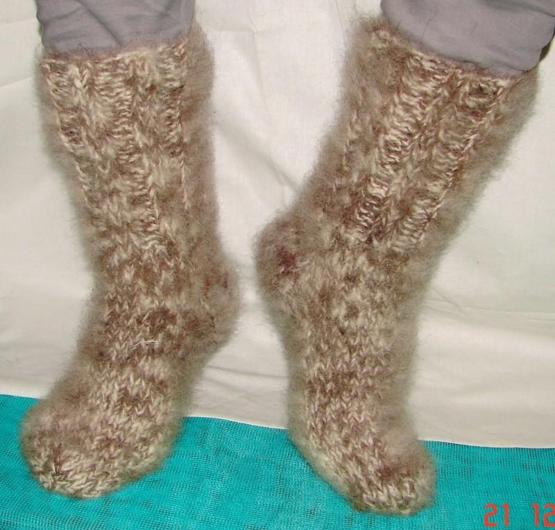 Носки зимние  из собачьей шерсти .