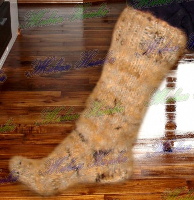 Носки целебные из собачьей шерсти .