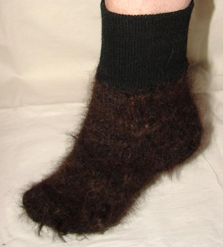 Носки  легкие  арт. №43 из собачьей шерсти .