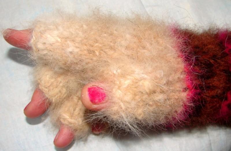 Гловелетты  из собачьей шерсти «Пальцы в тепле».