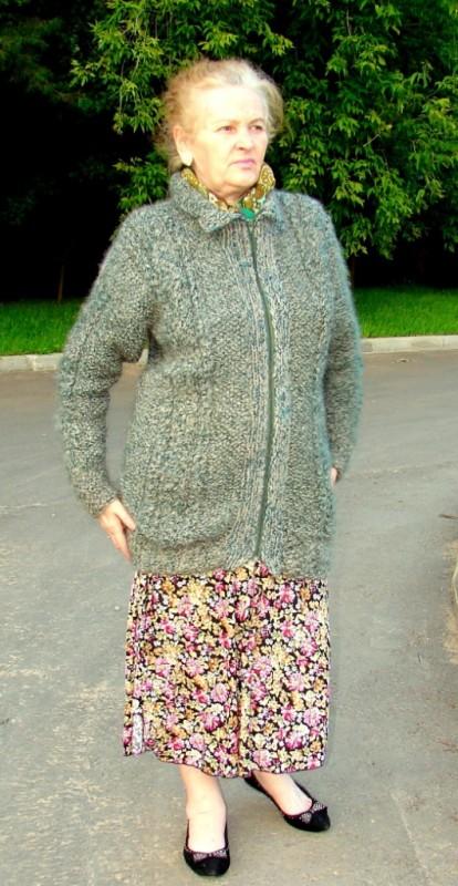 Кардиган  «Стелла»  женский  вязанный из собачьей шерсти.