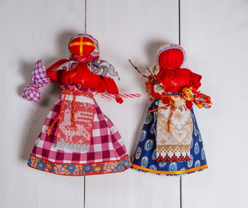 Народные куклы Пасхальная и Вербница