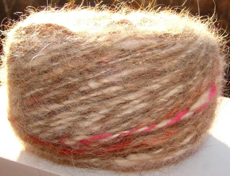 Пряжа меланж «Шерстяная красота» 100м100грамм из собачьей шерсти.
