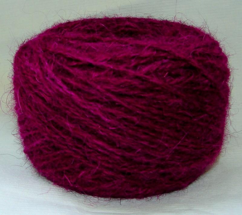 Пряжа «БШС фиолетовый» 145м/100гр из собачьей шерсти.