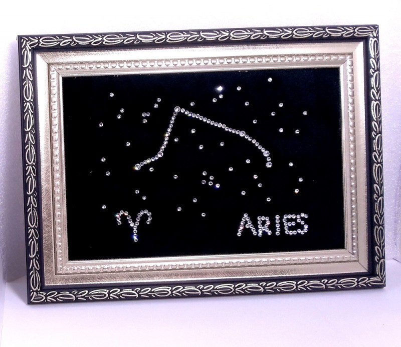 Картины стразами Созвездия Зодиака - Овен, Телец, Близнецы, Рак, Лев,Дева
