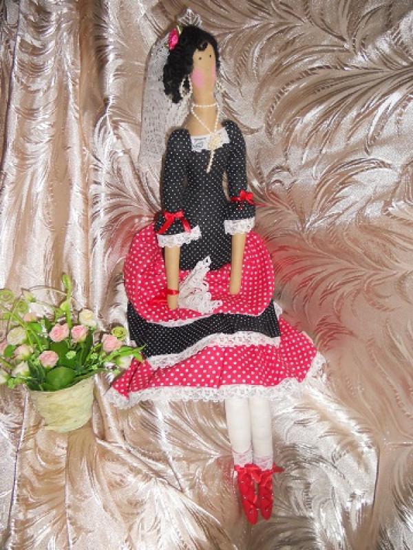 Интерьерная кукла тильда Кармелита