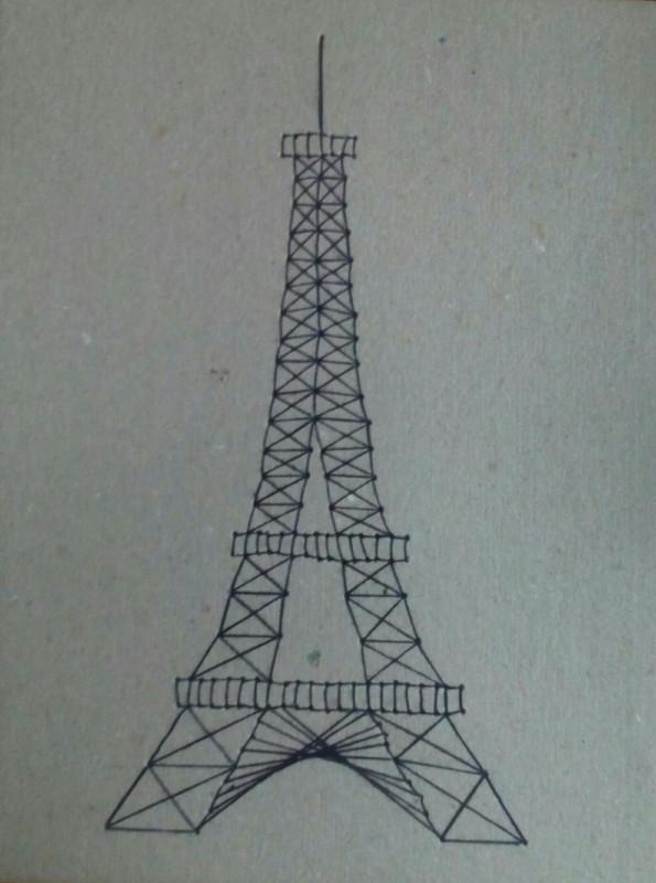 Эйфелева башня (изонить) своими руками