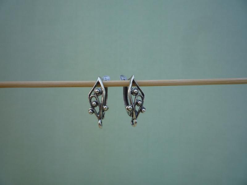 Швензы для серег английский замок (с декоративным элементом)  1 пара  (4 вида)