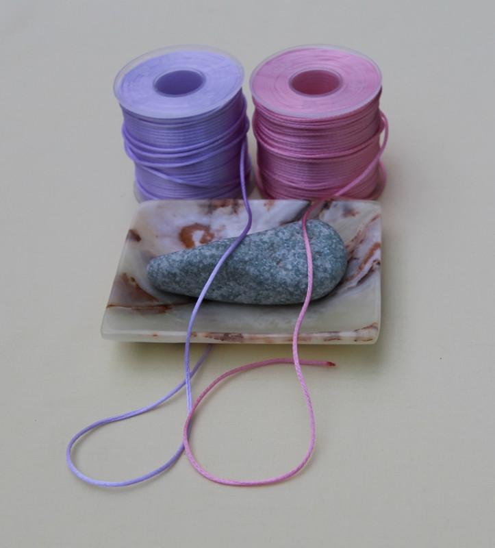 Атласный плетённый шнур   4 цвета  (50м)