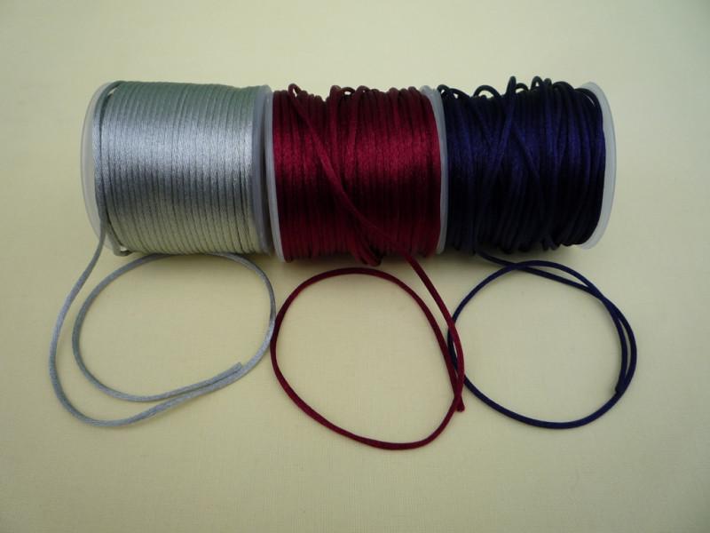 Атласный плетённый шнур  3 цвета  (30м)
