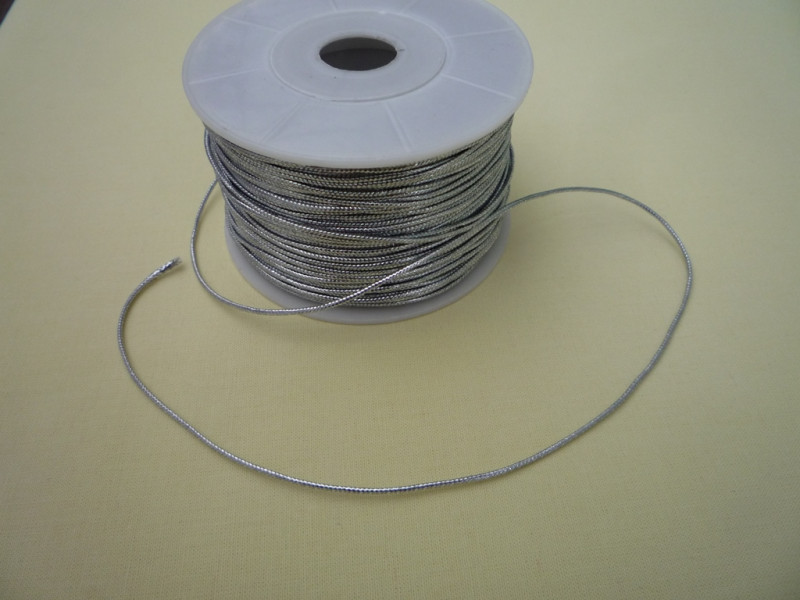 Серебряный плетённый шнур  (92м)