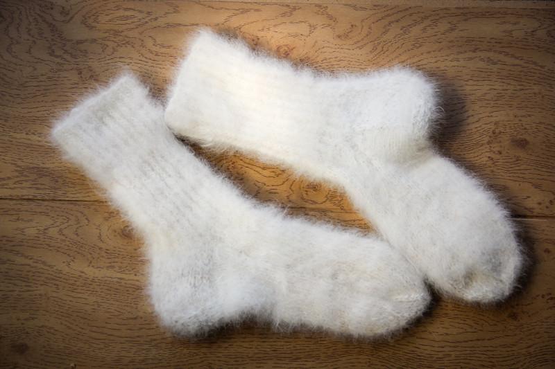 Мужские носки из собачьей шерсти с узором жгут