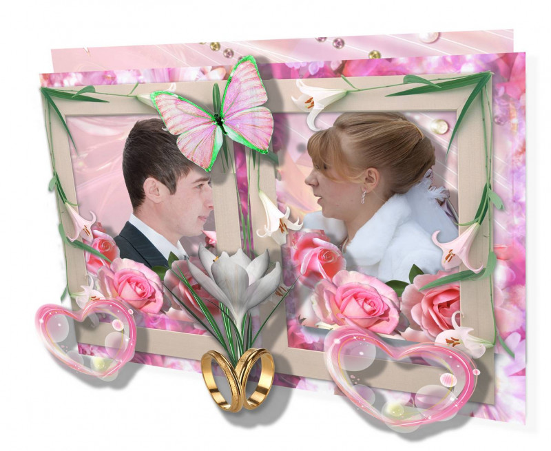 Свадебное лентикулярное трёхмерное фото на заказ