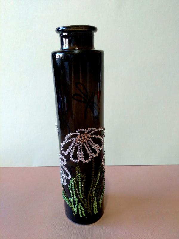Стеклянная ваза Ромашки