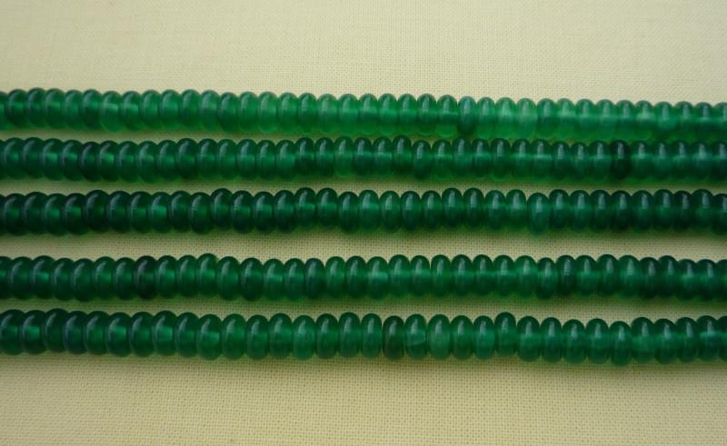 Агат зеленый (рондель) 120шт