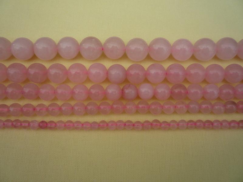 Розовый кварц     90шт