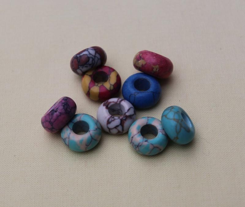 Бусины ( природный камень, подходят для браслета Пандора)   25шт