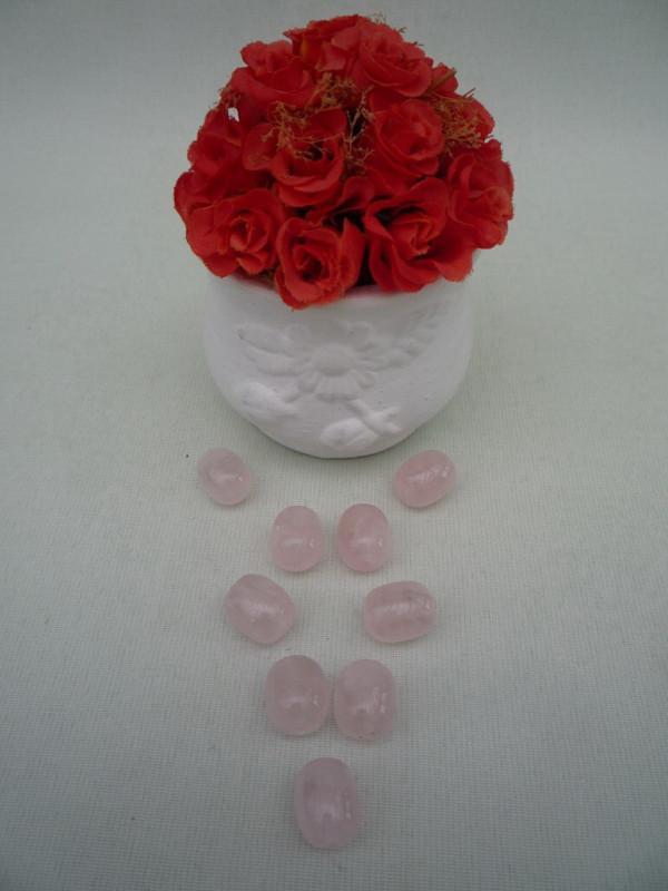 Розовый кварц   28шт