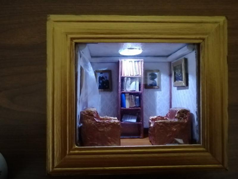 Миниатюрная комната с освещением