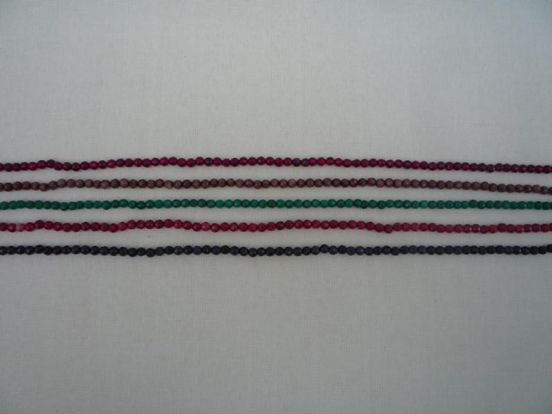 Халцедон (граненный)   90шт  (5цветов)