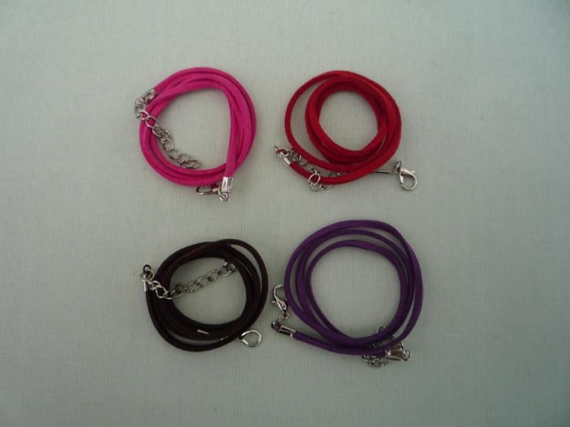 Шнурок бархатный (4 цвета). 10шт