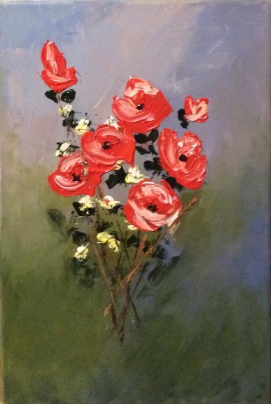 Картина  Красные розы Букет роз