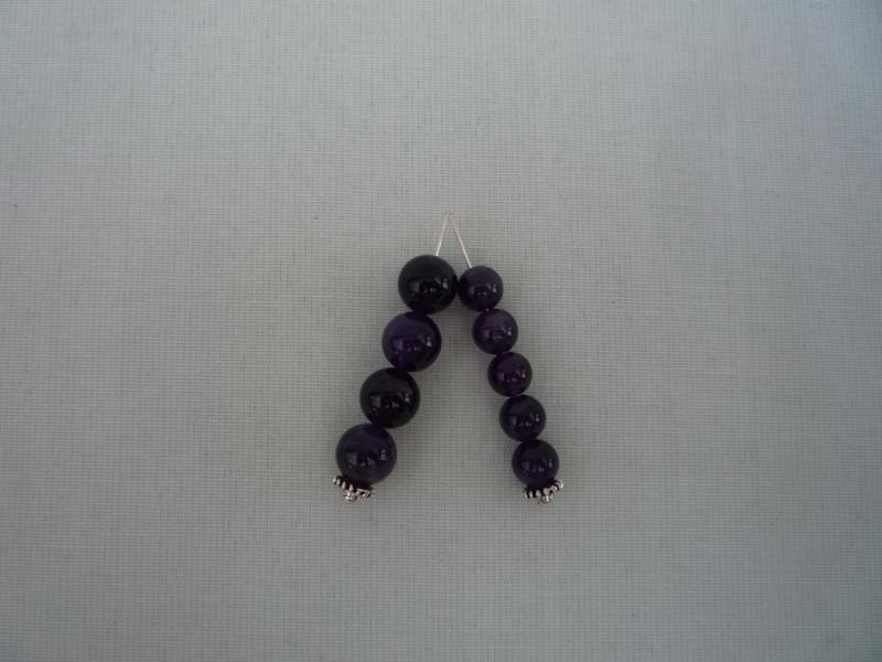 Кварц фиолетовый  (Мадагаскар). 48шт