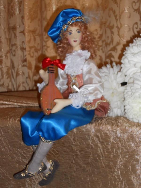 Интерьерная кукла в стиле корейской куклы:Музыкант