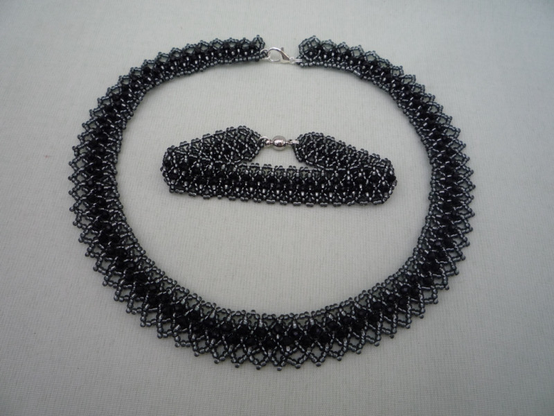 Комплект Сумерки (колье, браслет)