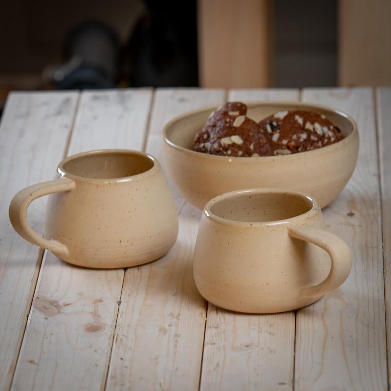 Набор посуды из каменной керамики Искренность в белом цвете