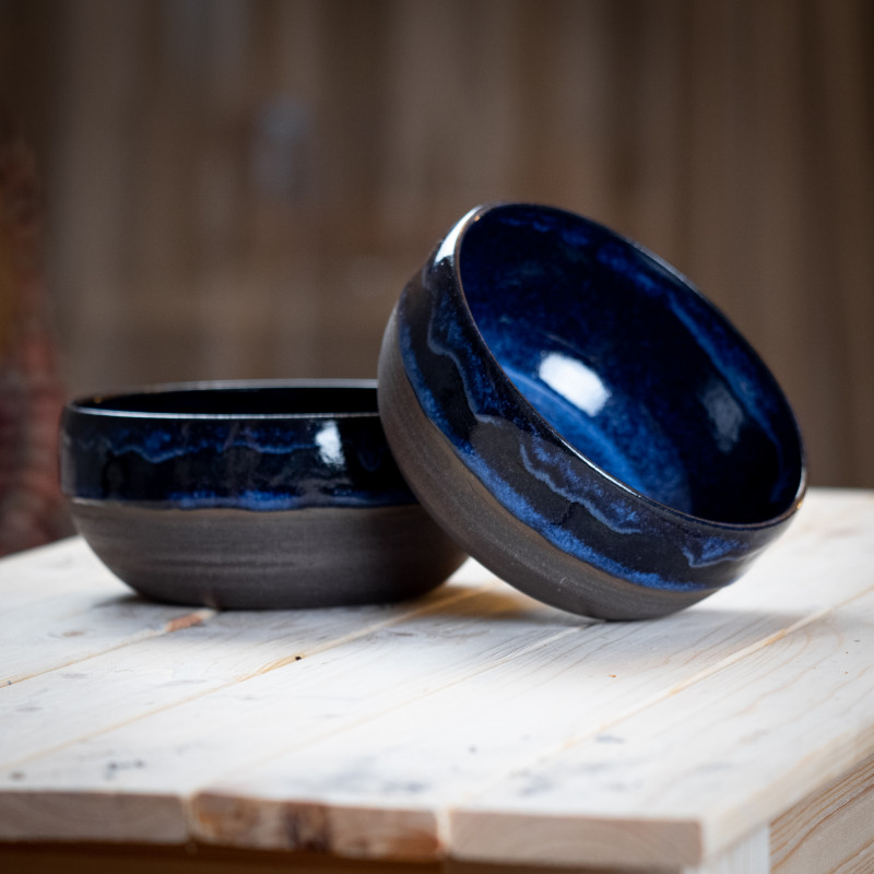 Тарелка из каменной керамики Ледяной Вулкан