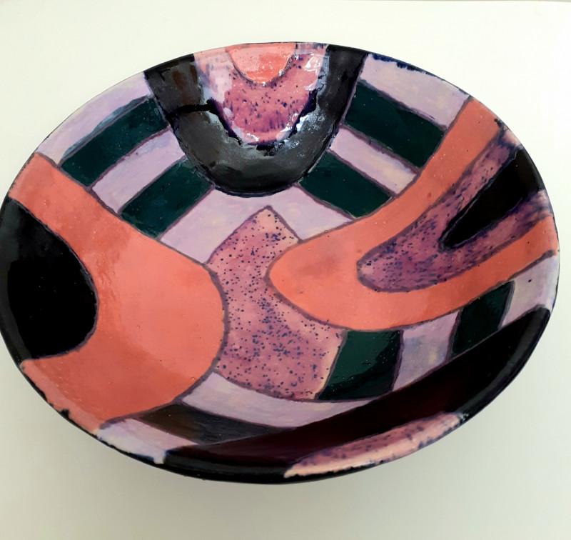 Расписная глубокая тарелка