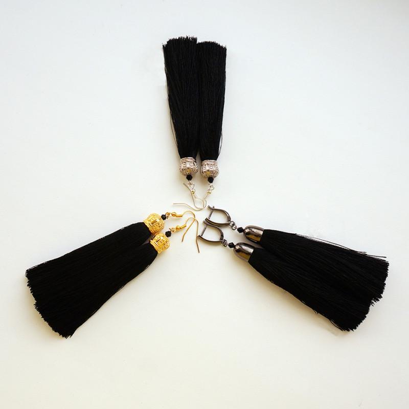 Серьги-кисти черные в асcортименте