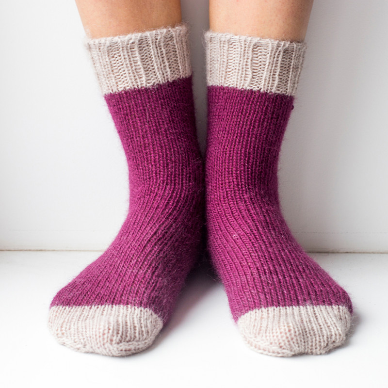 Носки фиолетово-серые