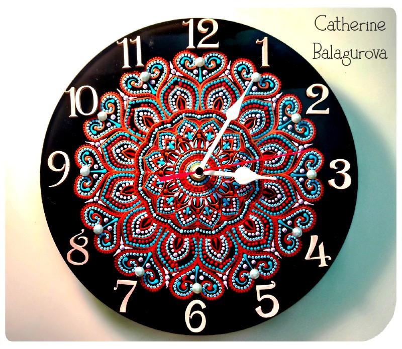 Часы настенные Цветок осени