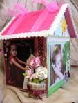 Домик-фоторамка на 4 фотографии маленькой принцессы.