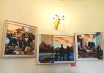 декоративное настенное панно в интерьер, триптих
