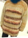 Вязаный свитер на нестандартную фигуру