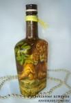 Декорированная бутылка «Львиное семейство»