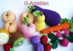 Фрукты и овощи вязаные