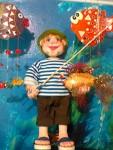 Кукла рыбак. Выставлена для примера.